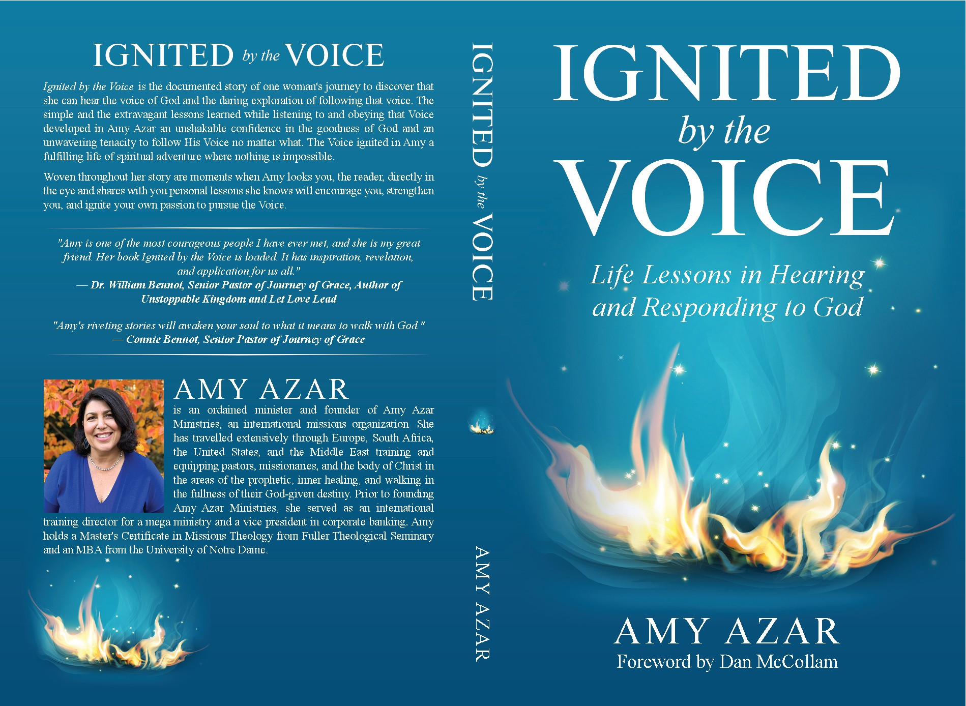 Ignited by the Voice book cover design