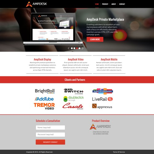 Website Design for AmpDesk