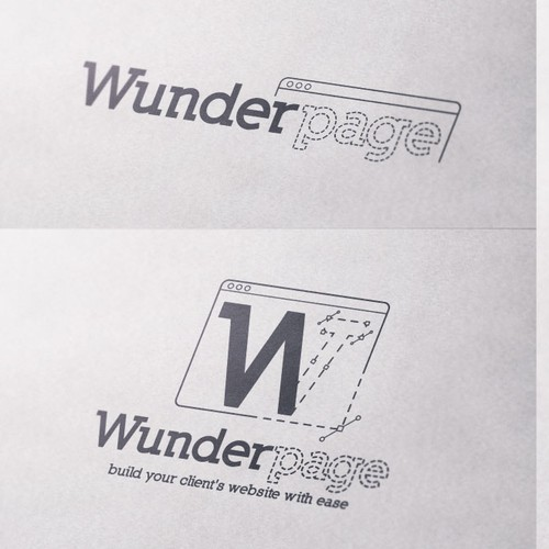 Create a stunning logo and stationary for wunderpage