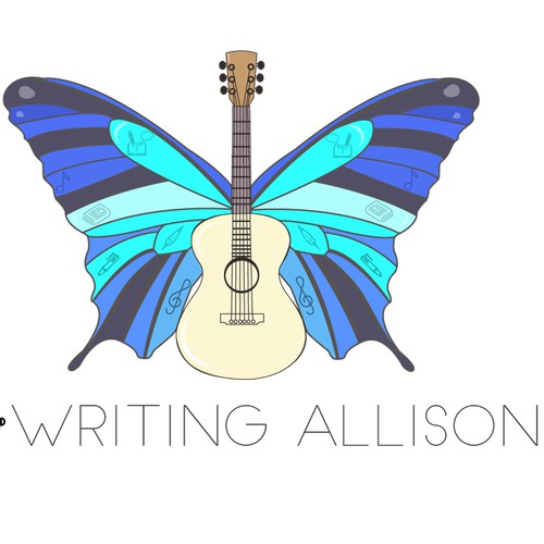a feminine logo for music writer