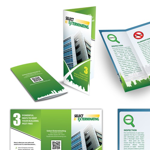 Create the next brochure design for Select Exterminating