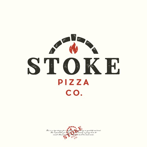 Rustic and simple logo design for Stoke pizza company