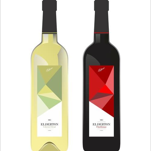 ELDERTON Wine label