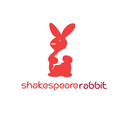 modern logo for shakespeare rabbit