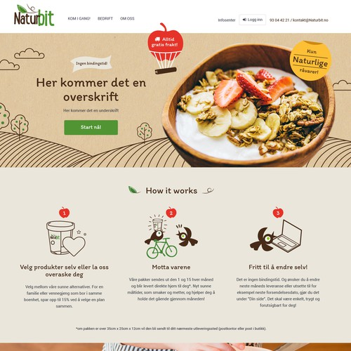 Web design-Healthy breakfast