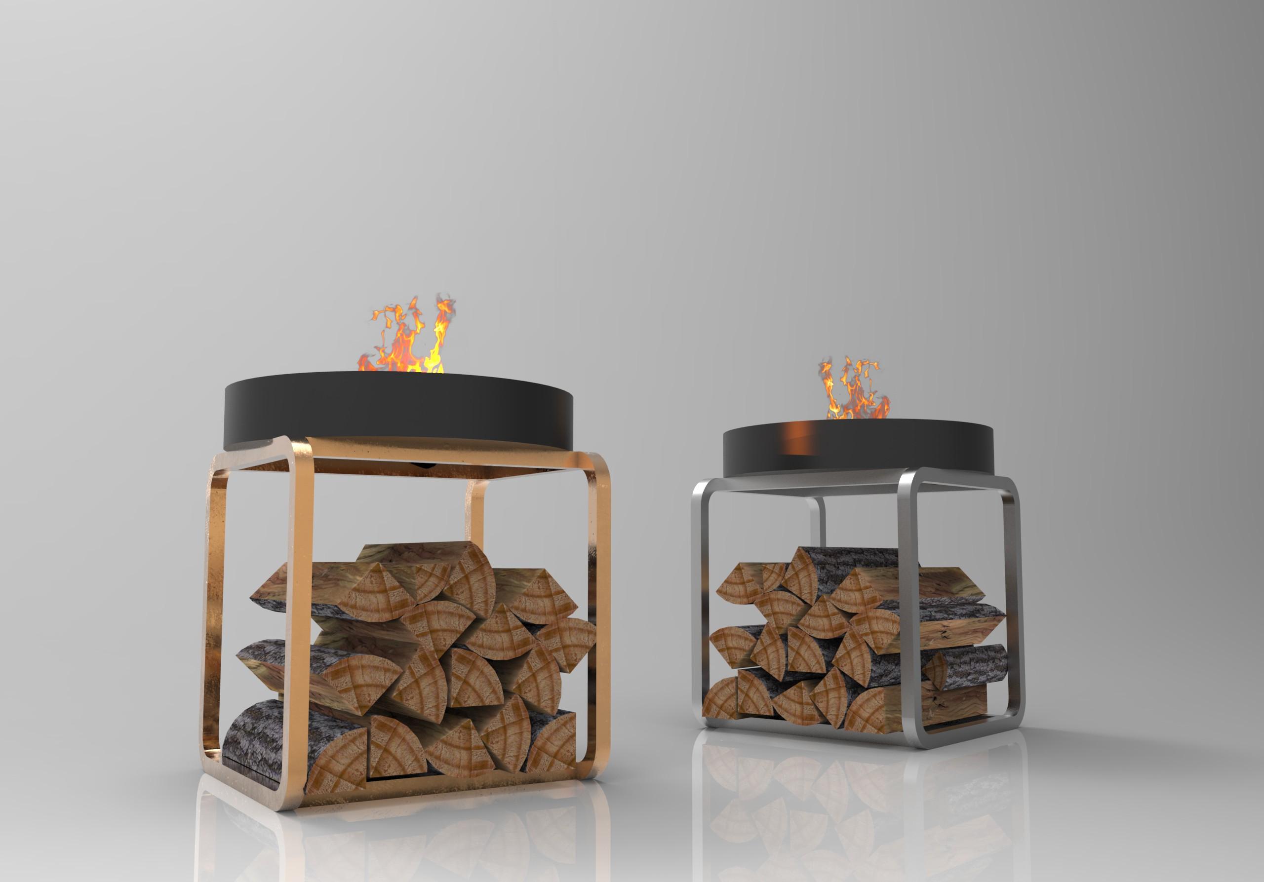 Firebowl and Log holders