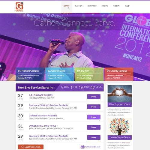 Modern Church Website Design