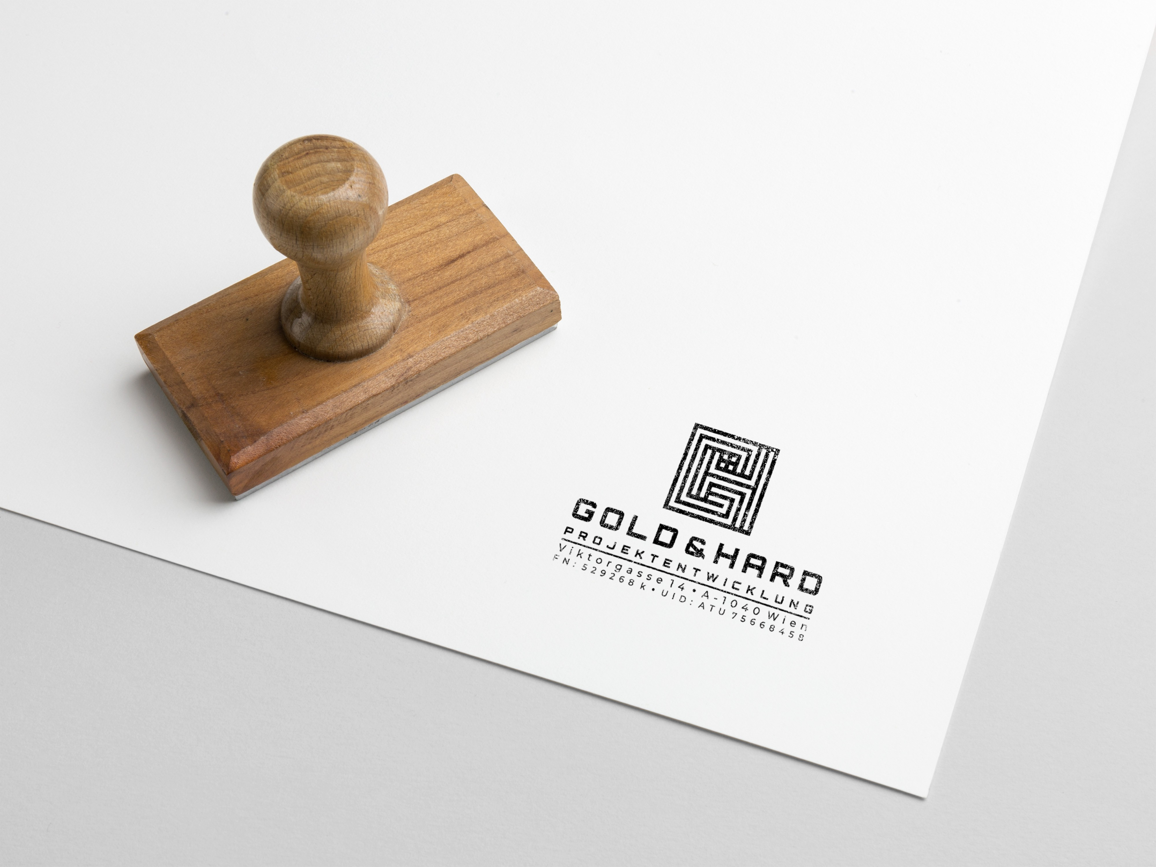 simple website +  business card + Stamp