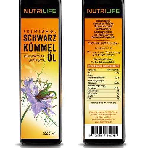 Label Blac cumin oil for NutriLife