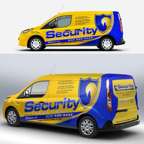 security international van wrap