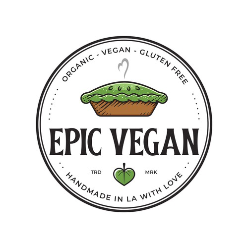 Catchy logo for vegan desserts selling in specialty markets & eateries in Los Angeles