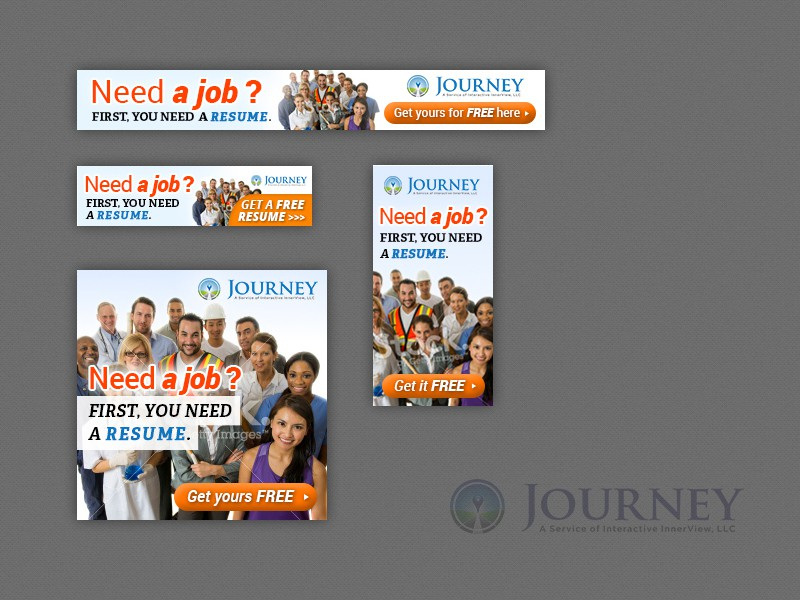 Build a Free Resume banner ad for Journey