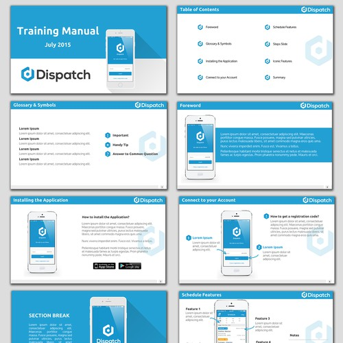 A Training Manual for a Mobile App