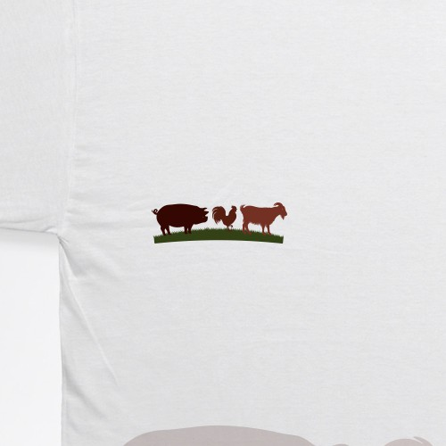 Simple animal logo for a heritage farm