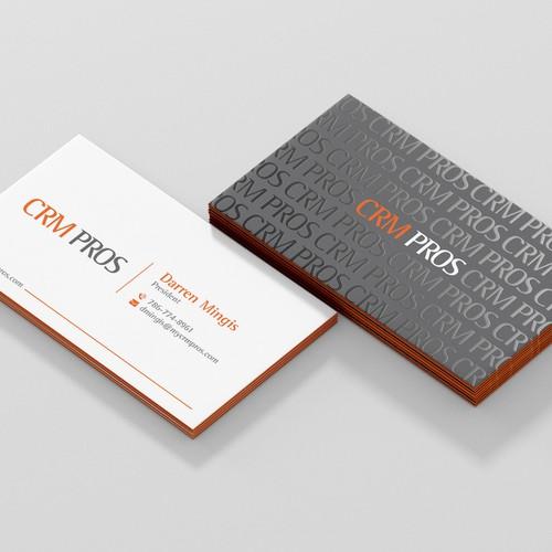 CRM PROS business card concept