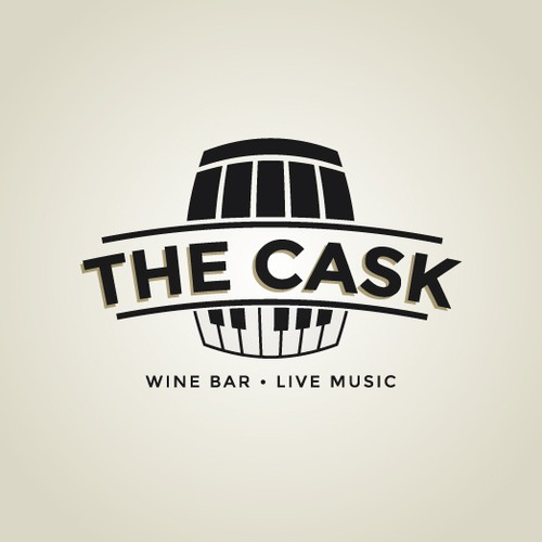 The Cask- wine,beer,bistro logo design