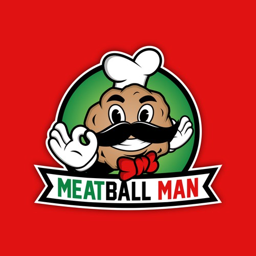Meatball Man logo design