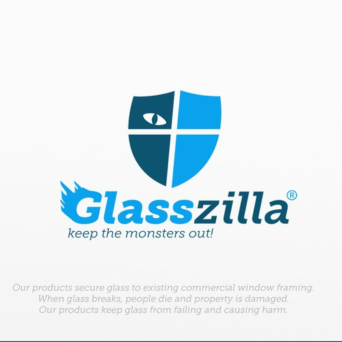 Glasszilla logo design