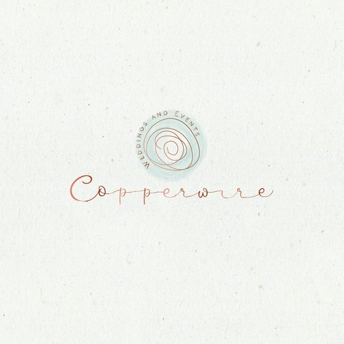 Need a wedding and event design/planning logo that shows the shine of Copper with an organic yet simple feel