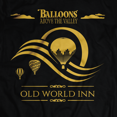 SIMPLE, CLASSY T Shirt Design for OLD WORLD INN using 2 EXISTING LOGOs!