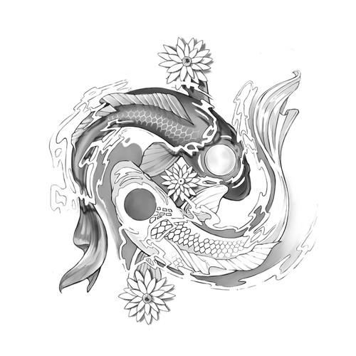 Pisces/Yin & Yang Tattoo