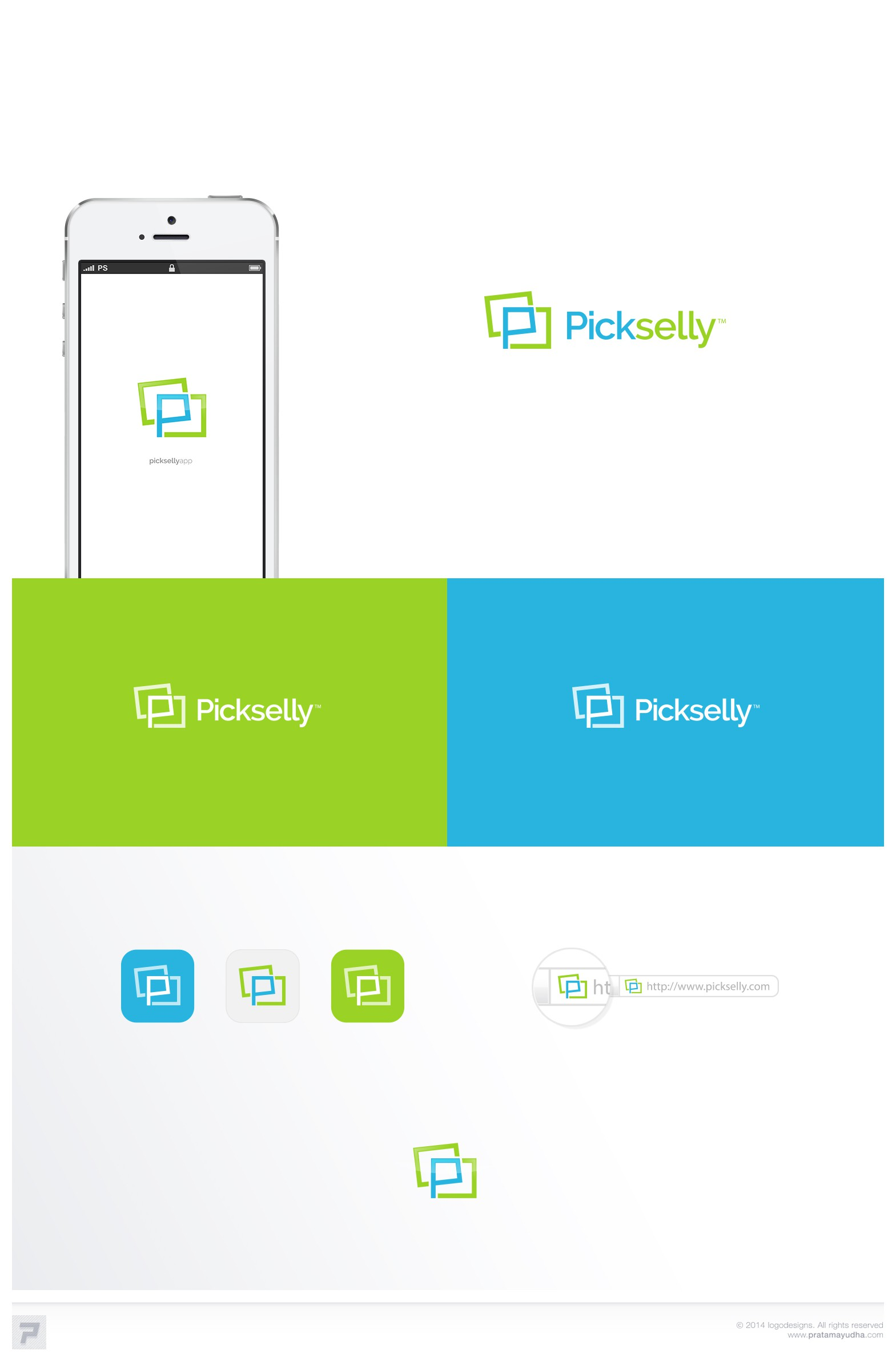 Design the face of the new lifestyle app Pickselly!