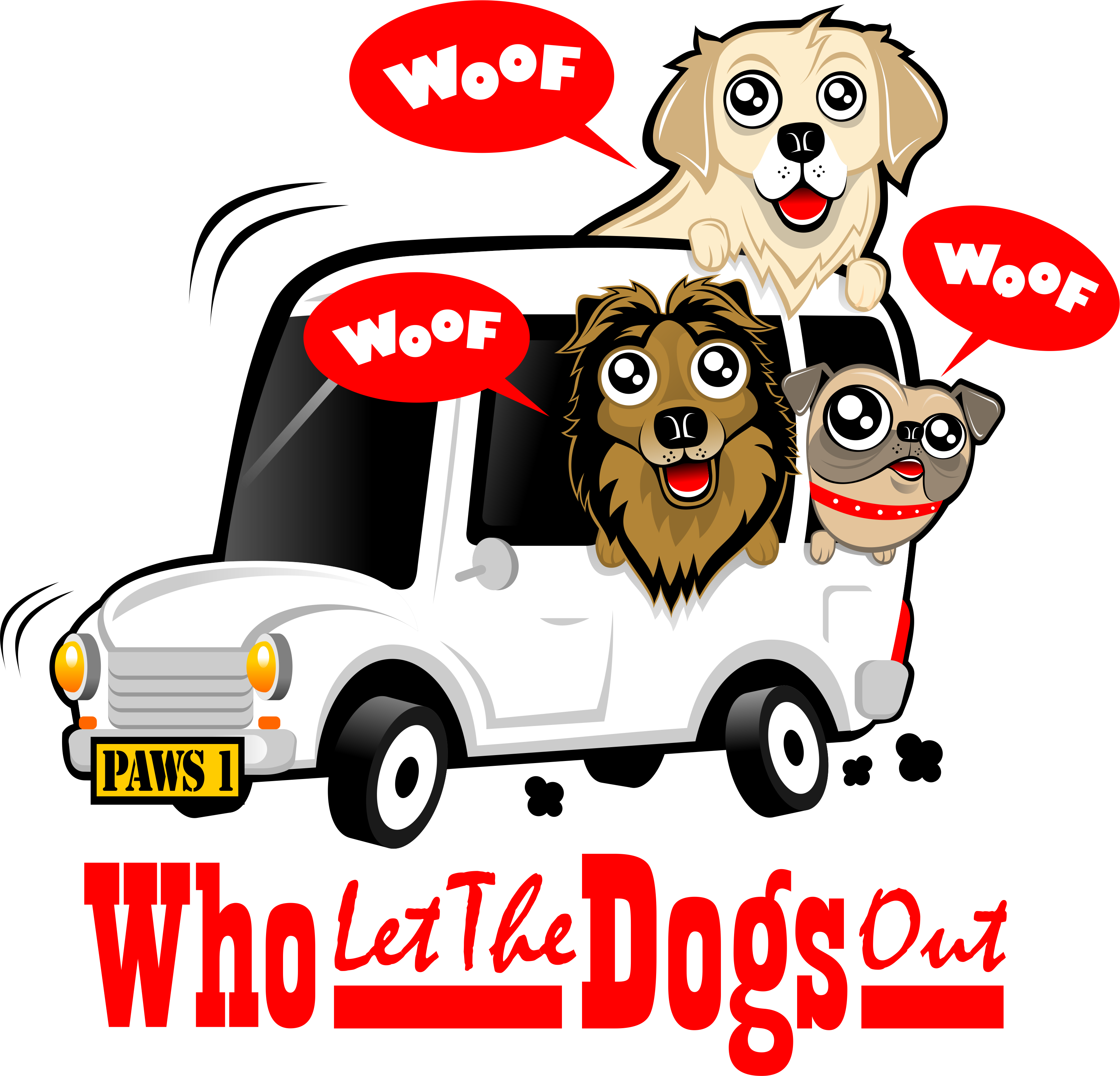 Create a caricature for Dog Walking business