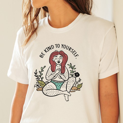 """Be Kind to Yourself"" Women T-shirt design"