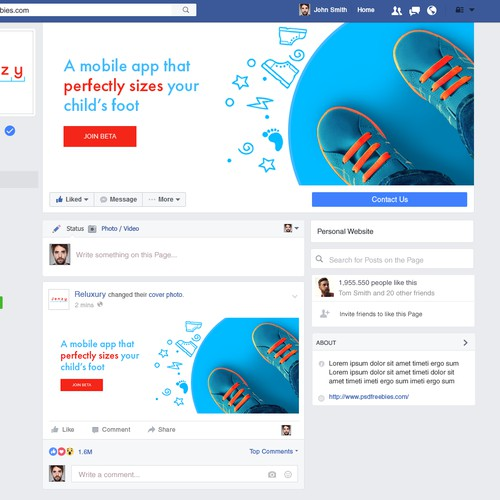Kid's Shoe App Needs Captivating Facebook Banner