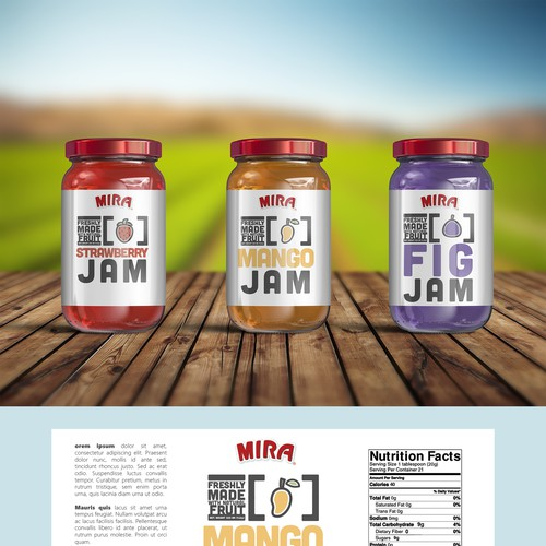Jam Label Design