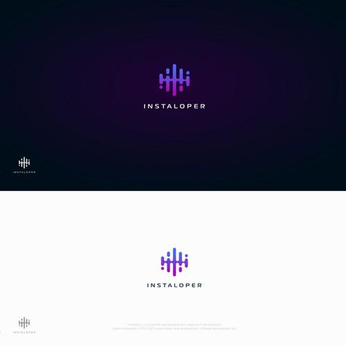 Design a modern-delicate logo & bus card for Instaloper