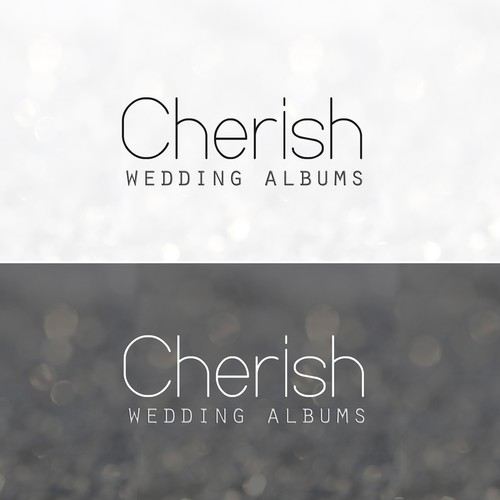 Create the next logo for Cherish Wedding Albums