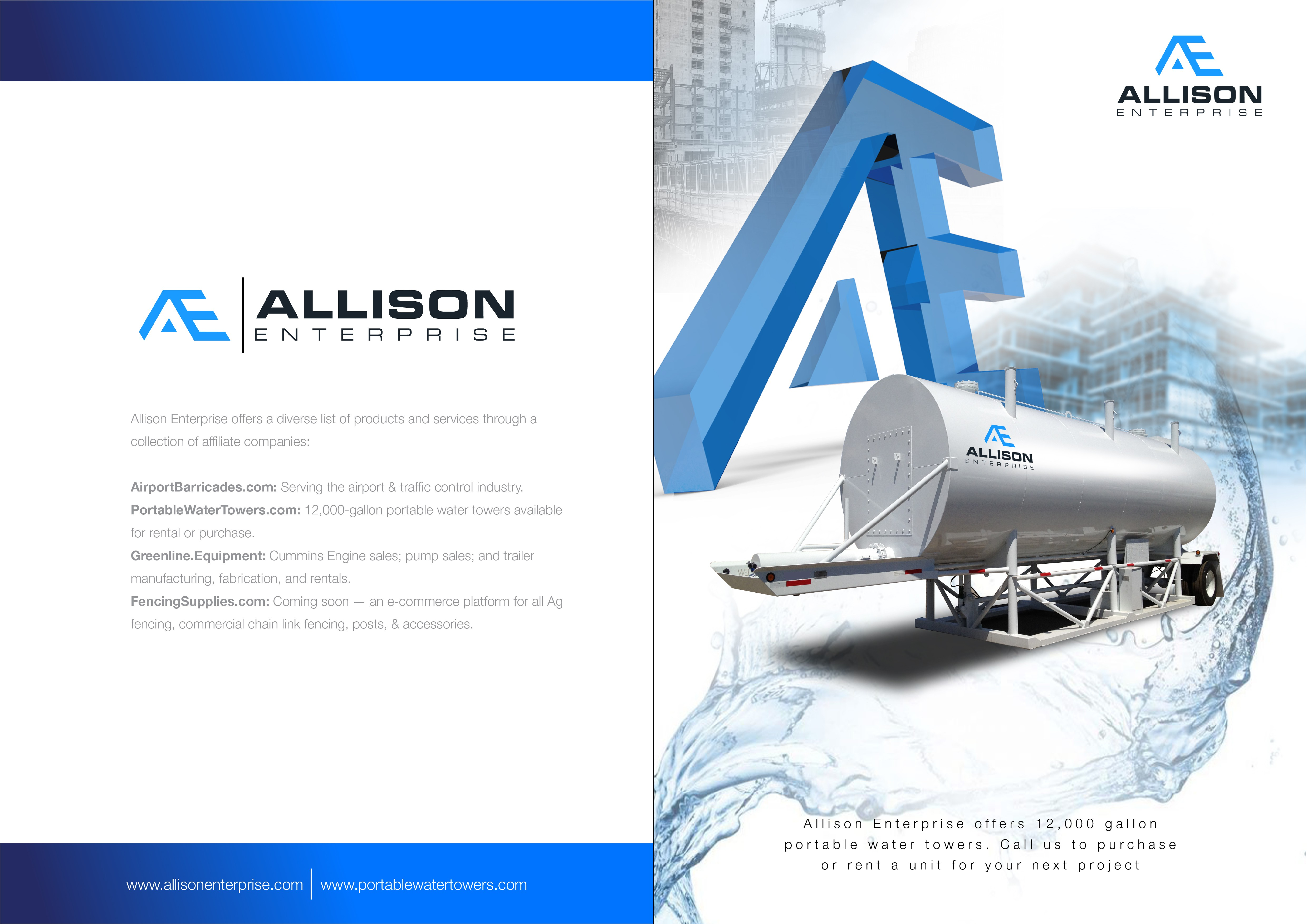 New brochure for equipment company