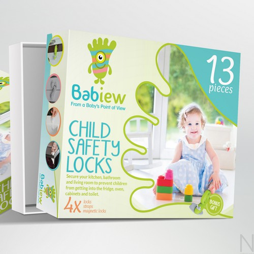 Package design for a baby product set