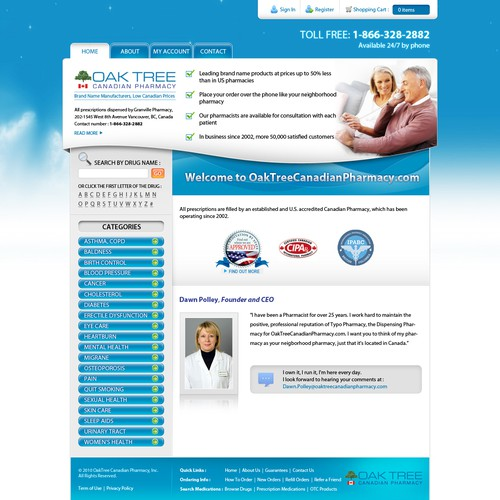 Attractive Website Needed For Our Pharmacy Site