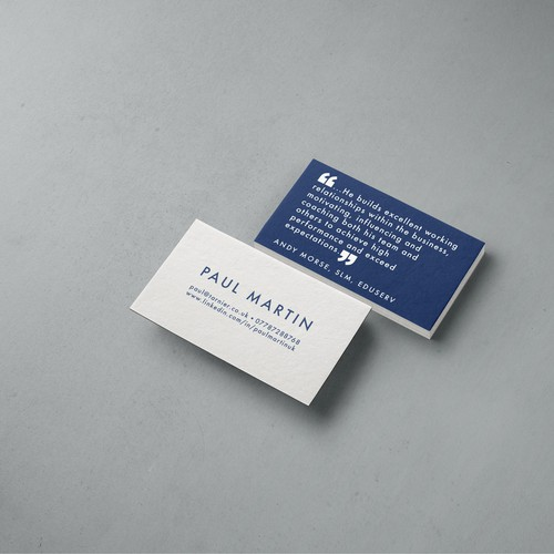 Clean & no-frills business card design for Paul Martin