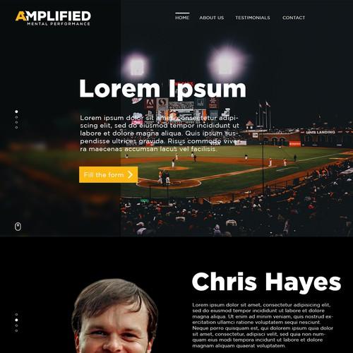 Sports-like Website Design