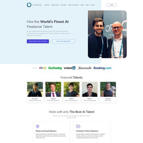Website design for JARVIS