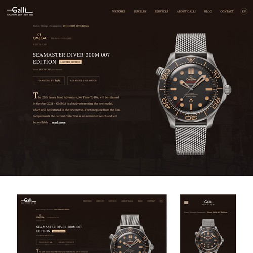 Redesign product page