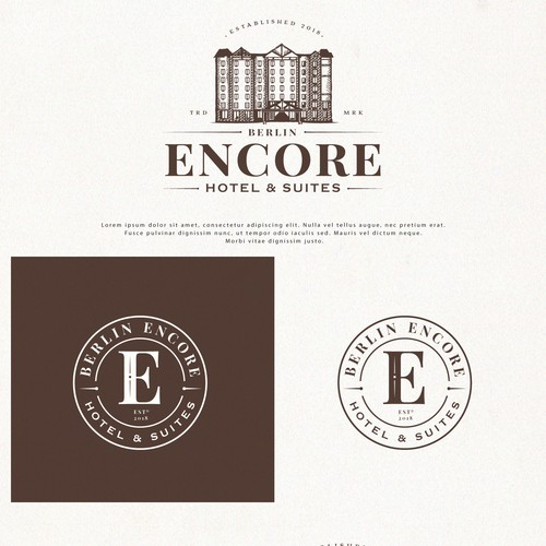 Logo Design  for Berlin Encore Hotel & Suites
