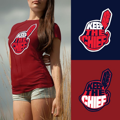 Design a T-Shirt supporting the Iconic Cleveland Mascot