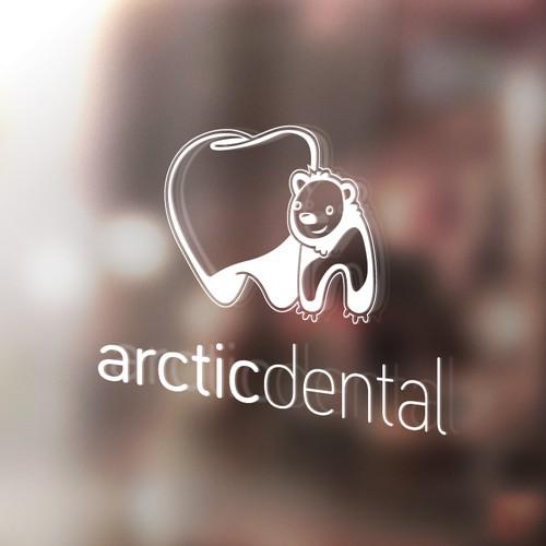 +Arctic Dental logo mock-up presentation
