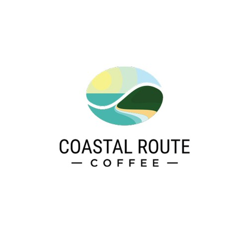 Logo concept for Coastal Route Coffee