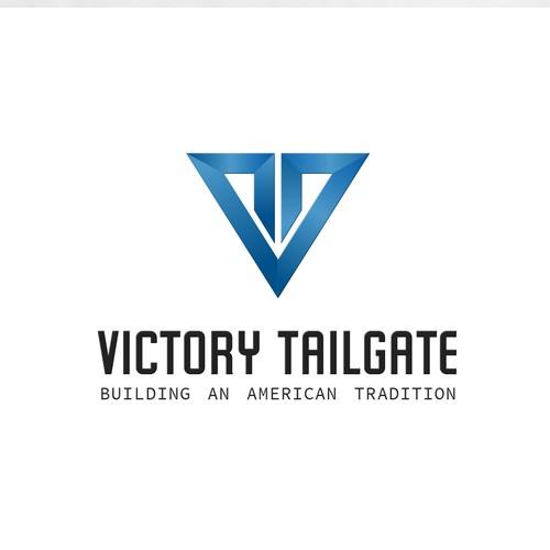 Modern and Bold logo VT initials