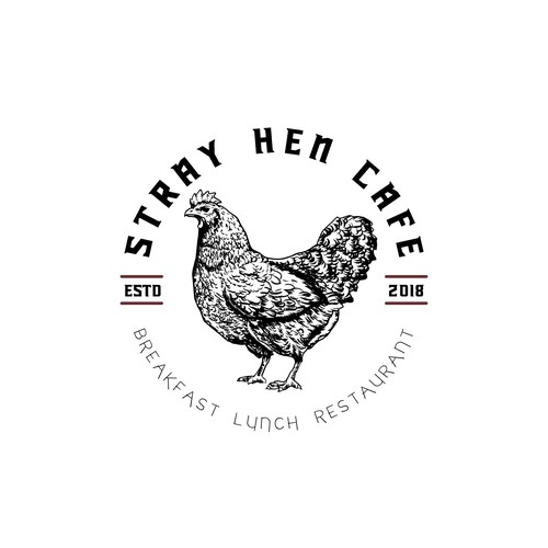 New Logo for Stray Hen Cafe