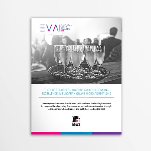 Multipage document for ad industry awards