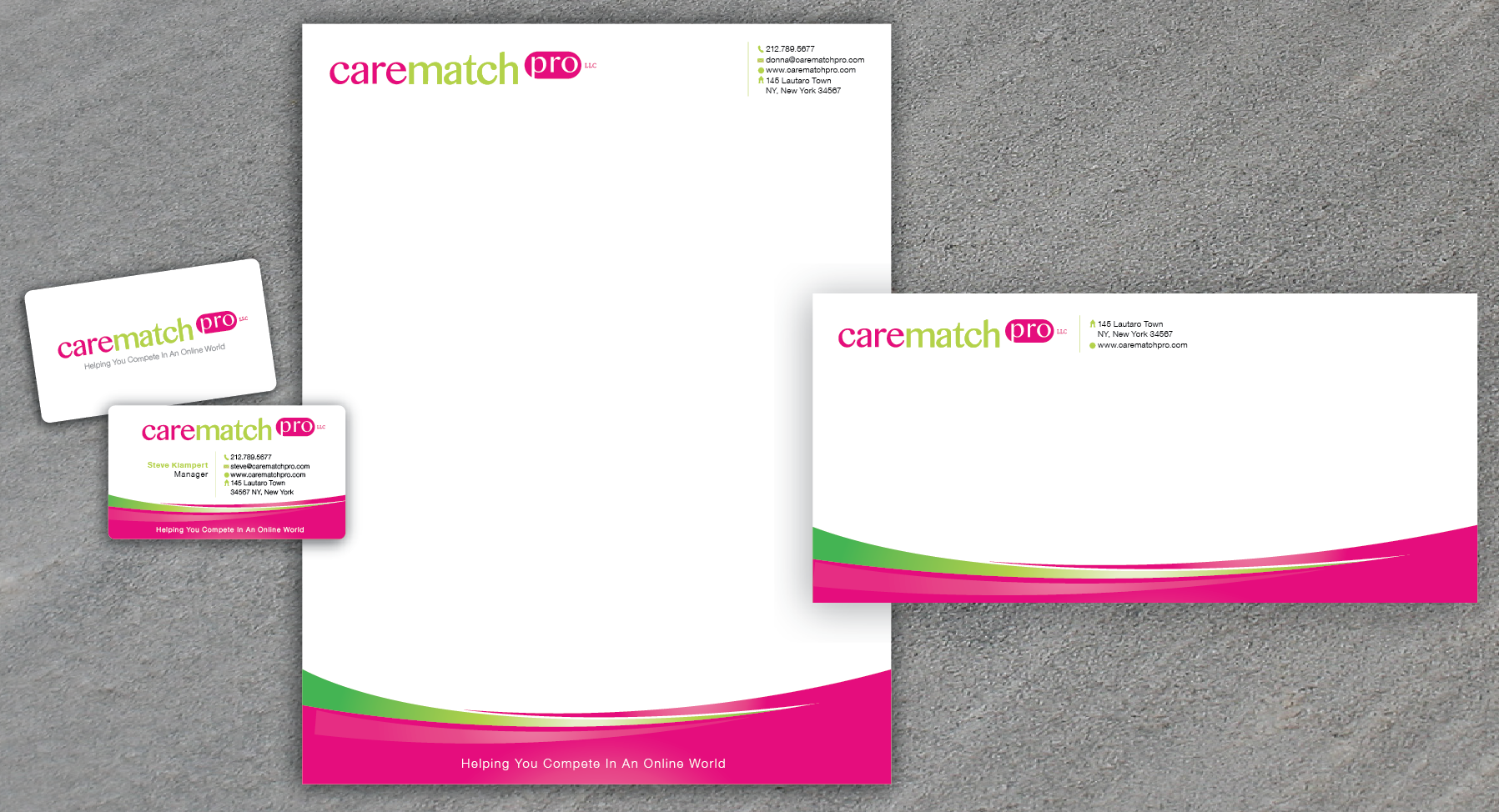 New stationery wanted for CareMatchPro.com