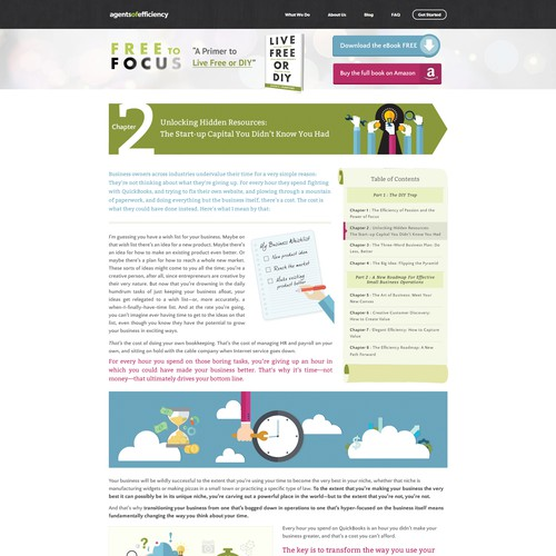 E Book Website Design