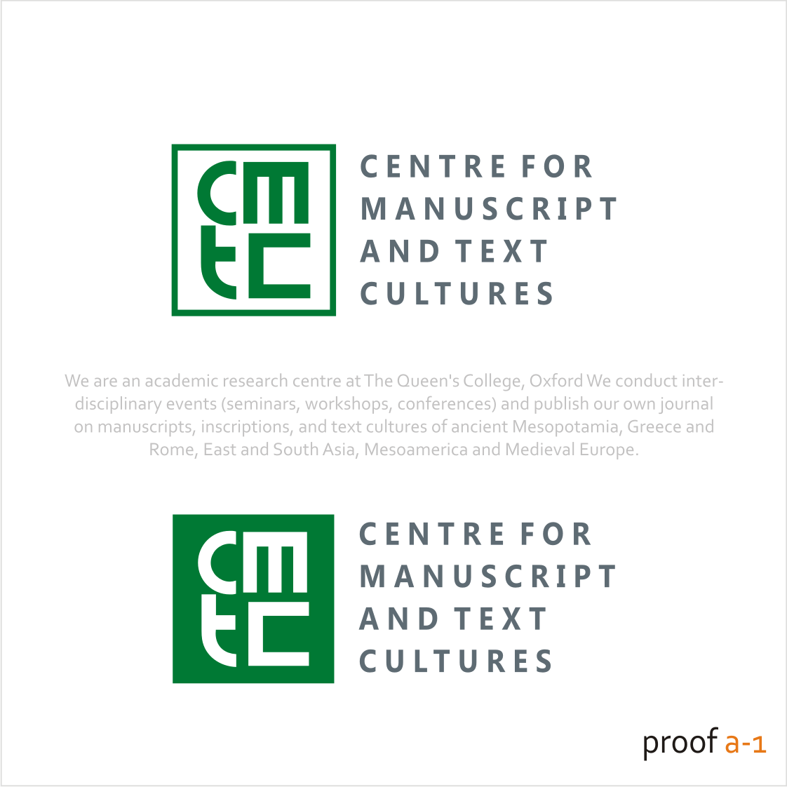 Create a logo for a new research centre in Oxford