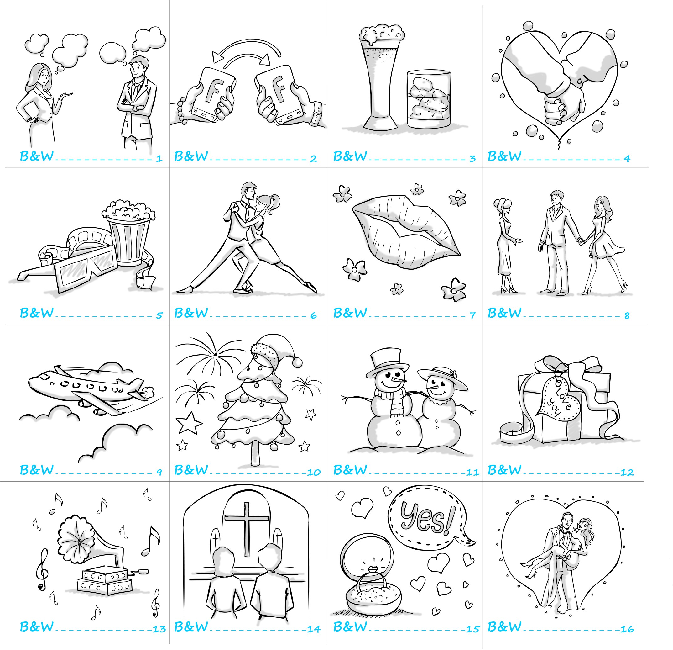 Very simple illustrations for booklet